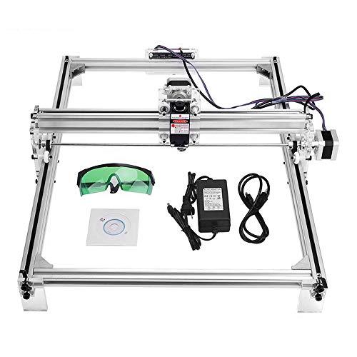 ETE ETMATE 30x40 cm CNC Laser Graviermaschine Kit, DIY Desktop Drucker Logo Bild Kennzeichnung Drucker, 12 V USB Holzschnitzerei Gravur Schneidemaschine (2500 mW)