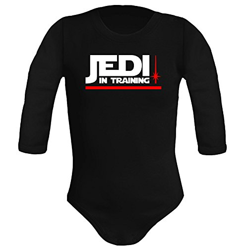 Body bebé unisex Jedi in training (Star wars - parodia). Regalo origi