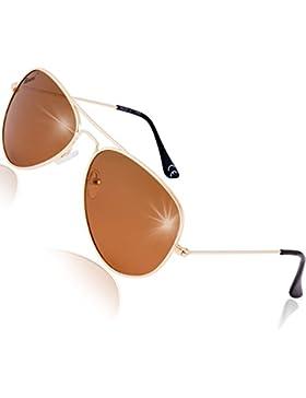 Rivacci Gafas de Sol Polarizadas Hombre Mujer estilo Wayfarer / Aviador / Clubmaster - Marca Retro / Vintage –...