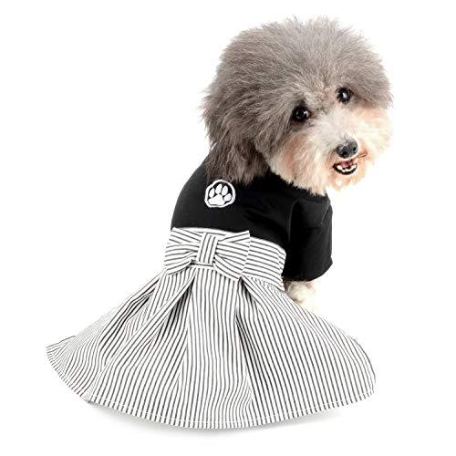 Zunea Kleiner Hund Japanische Kimono Bekleidung für Hunde Mädchen und Jungen Pet Cosplay Kostüme Puppy Kleid Kleidung -