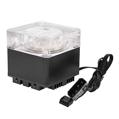 sserpumpe, Ultra Silent Wasserkühlung Pumpe 3000 RPM Schnelle Wärmeableitung,800L / H Durchfluss 3,5 Meter Pumpenkopf Water Cooling Pump Tank für PC Wasserkühlung(Schwarz) ()