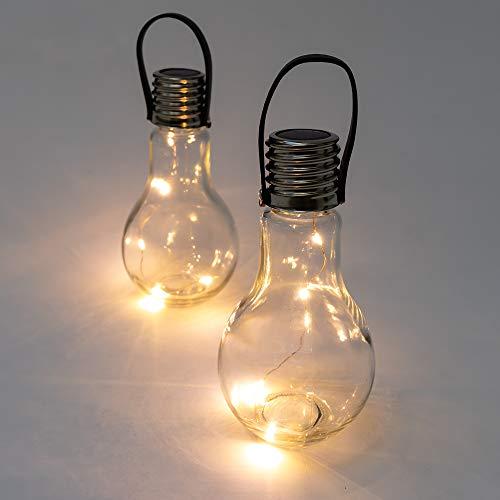 Solaray - Lámpara solar decorativa para colgar y colocar en la mesa (14 cm), Set of 2 lights
