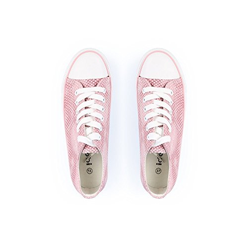 Ideal-Effekt Shoes reptile Saphia Sneaker Halbschuhe Rosa - rosa