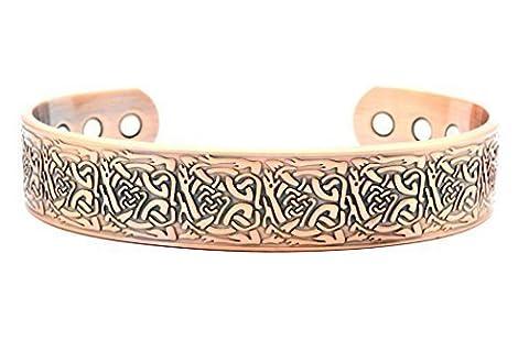 Magnetic Copper Bracelet for Arthritis Therapy - Origin® Celtic Design Suitable for Men or Women