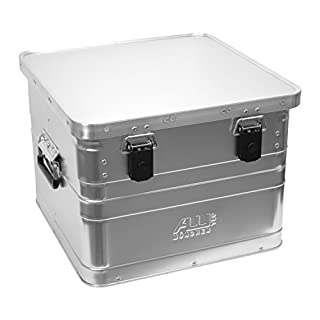 B50 Stabile Bürobox, 50 Liter Volumen, Vollaluminium, Gurtführung - Art. 31050G