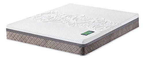 Oméga Noble 7cm mémoire de forme + Déhoussable + Coutil extra confort 500g/m2 - 25cm épaisseur totale - Confort adaptatif sur mesure – Matelas extrêmement durable (140cm x 190cm)