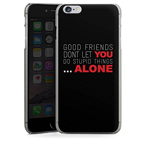 Apple iPhone X Silikon Hülle Case Schutzhülle Freunde Freundschaft Statement Hard Case anthrazit-klar