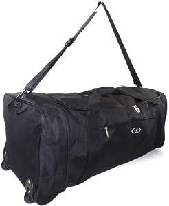 """Extra Large 32"""" Folding Wheeled Holdall Sport Weekend Travel Luggage Duffle Bag"""