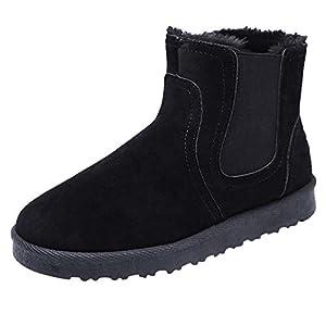 MAYOGO Schneeschuhe Damen Herren Paar Unisex Winterstiefel,Mode Retro Winterschuhe,Outdoor Boots Arbeitsstiefel Warm Gefüttert Plus Samt Baumwolle Stiefelette 39-44
