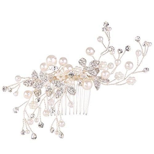 Clearine Femme Bohémien Perle Artificielle Noces Floral...