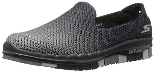 Skechers Damen Go Flex Sneaker Schwarz/Grau (Bkgy)