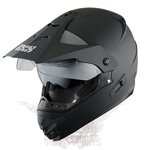 IXS HX 207 MOTORRAD ENDURO HELM SCHWARZ MATT MOTO CROSS OFFROAD SUPERMOTO QUAD (XL) (Helm Motorrad Atv)