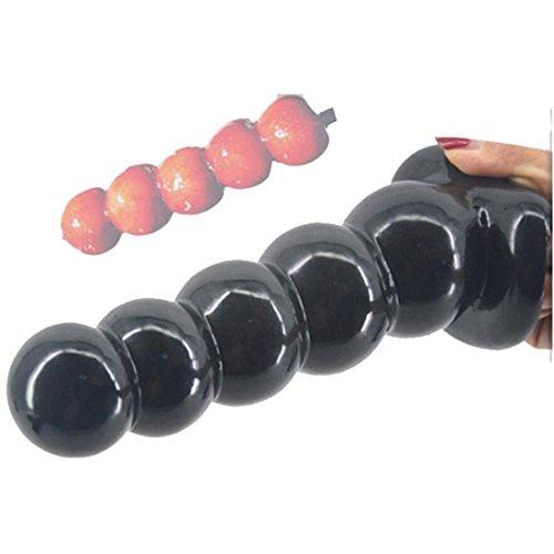 Analkugeln Analdildos- Ø5.3cm Männer und Frauen Anal Dilatator Analplugs Paare flirten Sexspielzeug,black,19.9cm