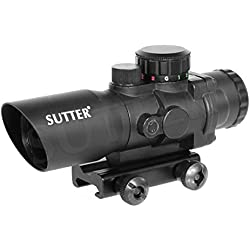 SUTTER® Multi Dot Viseur Point Rouge & Red Dot Sight 4x32 (Rouge/Vert) | pour Rails de Weaver & Picatinny | De Serrage Rapide | Lunette de visée Chasse & Airsoft