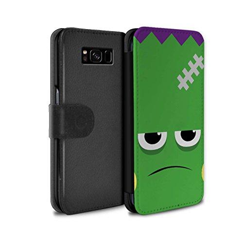 STUFF4 PU-Leder Hülle/Case/Tasche/Cover für Samsung Galaxy S8 Plus/G955 / Frankenstein Muster / Halloween Zeichen Kollektion