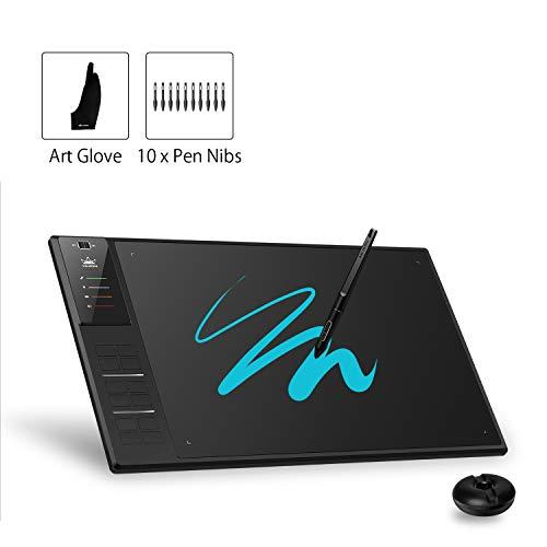 HUION WH1409 V2 8192 Stift Druckempfindlichkeit Wireless Grafik-Tablet mit Akku-Freien Stift 12 Express-Tasten für Mac und Windows