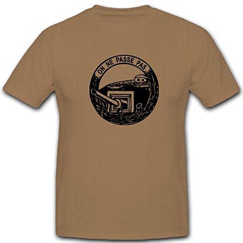 Maginot Linie Abzeichen On Ne Passe Pas Frankreich France General Festung Bunker WK Grenze Unterirdisch - T Shirt #2696, Farbe:Sand, Größe:Herren M