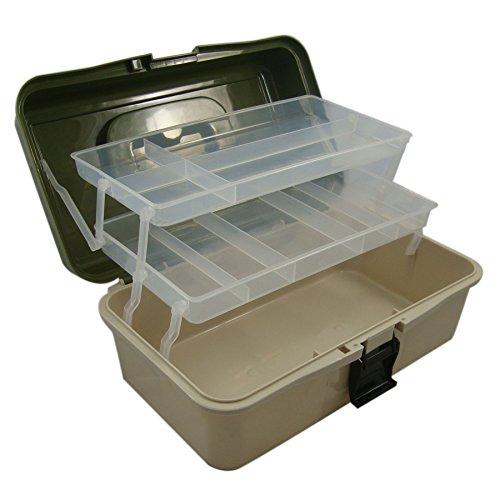 Lunar Box Angelkoffer - 2 Drehbare Etagen mit Verstellbaren FÄChern - Ideal für Angelzubehör, Angelhaken, Schwimmer und Köder