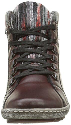 Remonte R1473, Sneakers Hautes Femme Rouge (Wine/Schwarz/Grau-Rot / 35)