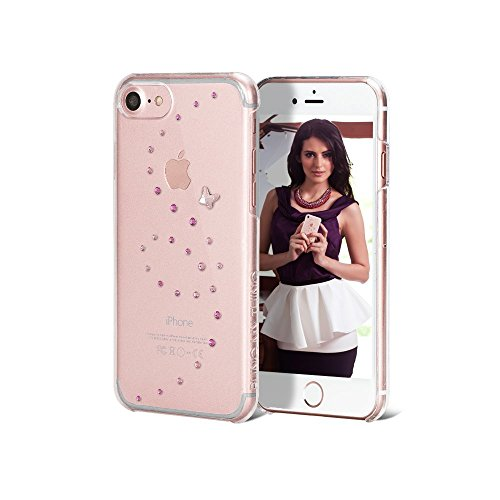 Bling my thing ip7-polipropilene cl per serie pkm papillon lussuoso e alla moda design impreziositi con original cristalli swarovski, unico case per apple iphone 7 rose sparkles