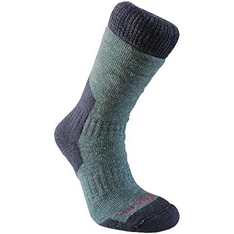 Bridgedale Mens Merino fusion Summit - Calzini da uomo, in lana merino, colore: grigio scuro, verde (verde scuro), UK 6-8.5