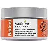 Feuchtigkeitscreme für unreine Haut. Retinol Creme aus Kanada mit Vitamin A, E & Hyaluronsäure für Gesicht. Sheabutter Creme für Haut. Natürliche Hautpflege by Maritime Naturals – 120ml