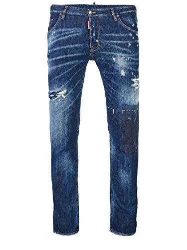 "Jeans ""Skater"" Uomo DSQUARED cod.S71LB0490 BLUE SIZE:50"
