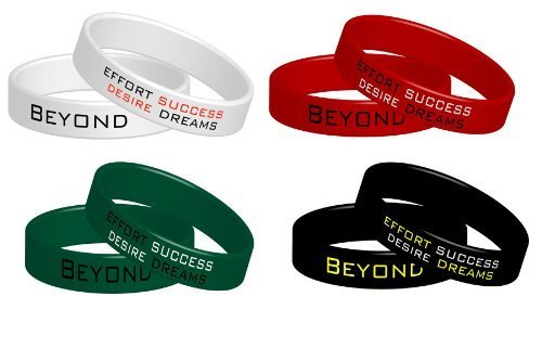 4 Fitness Armbänder Beyond Dreams | Power Silikonarmbänder