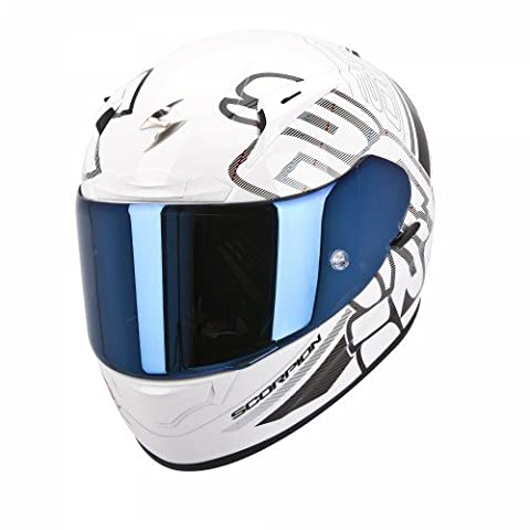 Scorpion - Casque moto - Scorpion EXO-2000 EVO AIR Ipsum Blanc perle/Noir - L