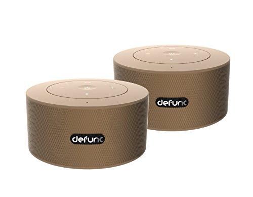 DEFUNC DUO Mobile Stereo Lautsprecher 2er Set gold  | echter Stereo Sound  | bis zu 10 Stunden