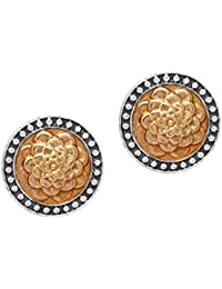 Jaipur Mart 5.00 Grams Oxidised Gold & Silver Plated Traditional Earrings Jewellery Gift For Her, Girl, Women,...