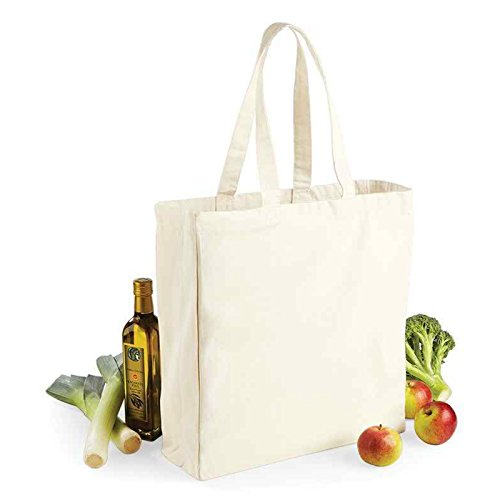 Perlen Hobo Bag (Westford Mill Canvas Classic Shopper Griff Länge 58 cm Farbe Natur 100% Baumwolle)