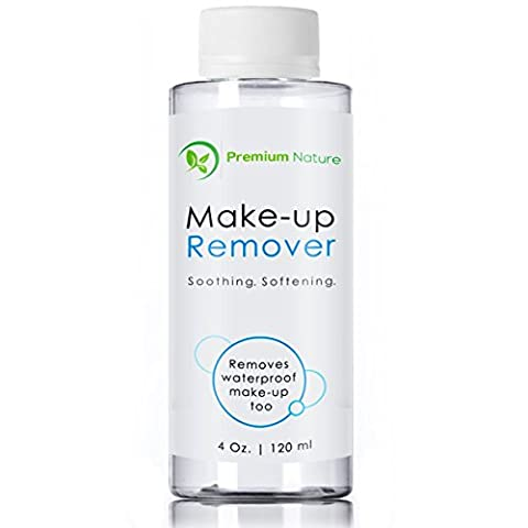 Makeup Remover Facial Cleanser - All Natural Gentle Wash for Eyes Lips & Waterproof Mascara - Moisturize Hydrate Purify & Soothe Skin Remove Impurities Oils & Dirt 120 ml Premium Nature