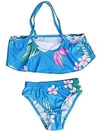 33c10e2fcac68 LIOOBO Mädchen Zweiteiler Bikini Set Muster Getrennt Badeanzug  Badebekleidung