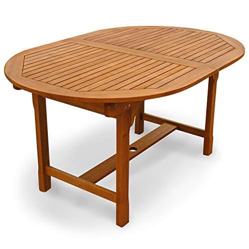 Indoba Shine-oval, ausziehbar-Serie Sun Shine-IND-70301-TI Gartentisch, braun, 200 x 100 x 74 cm