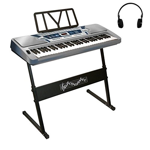 pitchmaster-61-key-silver-electronic-music-piano-keyboard-with-stand-electric-piano-package-with-hea