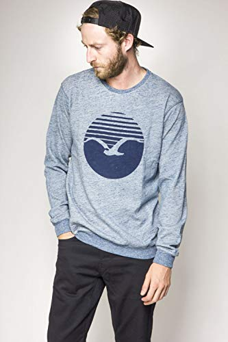 Cleptomanicx Herren Sweatshirt blau S