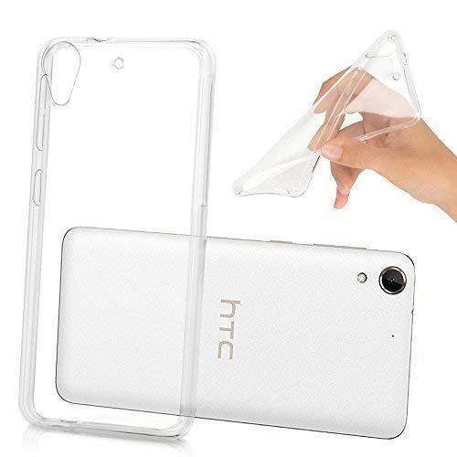 VCOMP® Housse Etui Coque Gel UltraSlim et Ajustement Parfait pour HTC Desire 728 Dual sim/ 728G Dual sim - Transparent