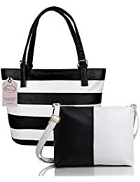 Mammon Women Handbag and sling bag combo (HS-combo-belt-blk, 40x30x10 CM)