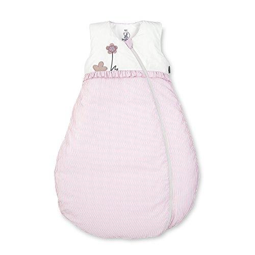 Sterntaler Schlafsack für Kleinkinder, Ganzjährig, Wärmeregulierung, Reißverschluss, Größe: 90, Emmi Girl, Weiß/Rosa -