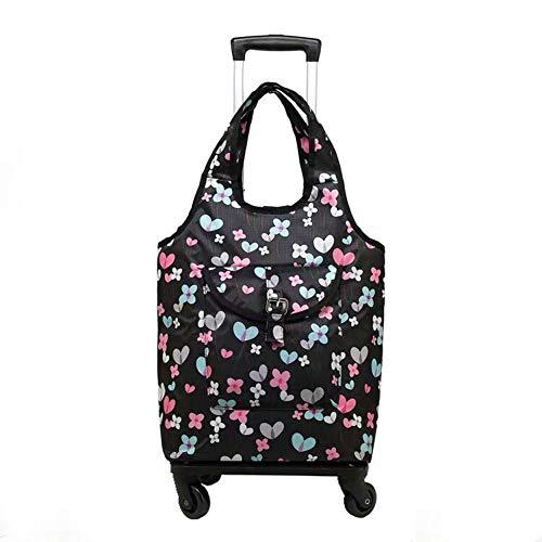 AIURBAG Leicht Einkaufswagen für Frauen Grocery Trolley Reisekoffer Cabin Rollgepäcktasche, Handtasche mit Rad,A