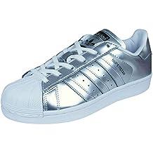 hot sale online e72f3 f40c8 adidas Superstar CG3681 Scarpe da Ginnastica da Donna, Donna, CG3681,  Silver White
