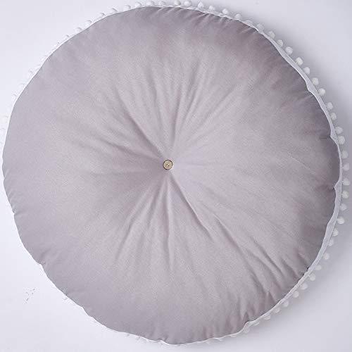 YACAOS Neugeborene Kinder Dicke Wolle Baumwolle Krabbeldecke Runder Teppich Kindermatte 1 x 90 cm Sofakissen - 1046 Teppich