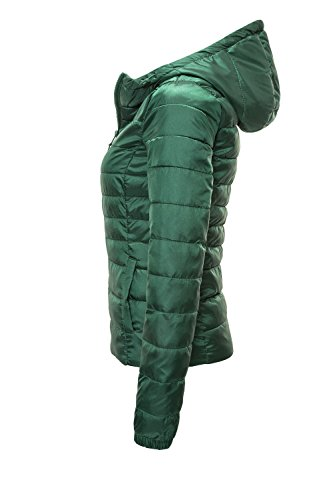 ONLY Damen Steppjacke Übergangsjacke Kapuzenjacke Leichte Jacke (XS, Hunter Green) - 2
