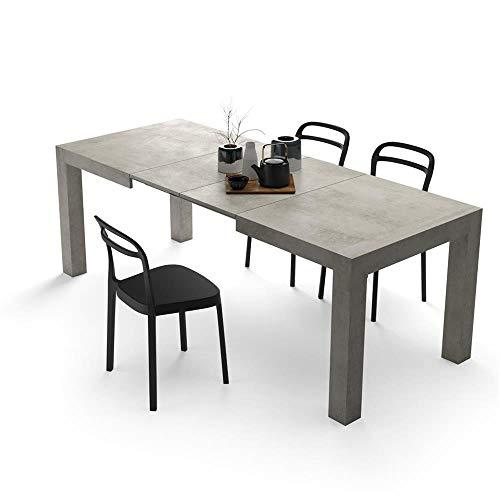 Tavolo 70 X 70 Allungabile Ikea.Mobili Fiver Tavolo Allungabile Moderno Iacopo Cemento 140 X