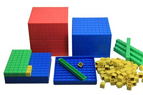 aprender activamente - Dienes decimales juego de cálculo 121 piezas - RE-Plastic°