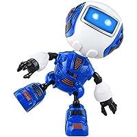 Robot de Inducción Inteligente, Juguetes de Robot de Detección Táctil, Mini Robot de Aleación de Múltiples Funciones con Música y Luz, Juguete de Juguete de Robot de Niños y Decoración del Hogar (Azul)