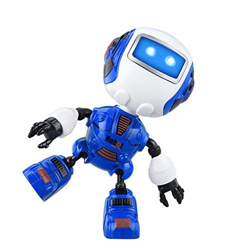 ionsroboter, Noten-Sensorroboter-Spielwaren, Multi-Funktionaler Minilegierungs-Intelligenter Roboter mit Musik u. Licht, Scherzt Roboter-Spielzeug-Geschenk u. Hauptdekoration (Blau) (2 Yr Old Girl, Spielzeug)