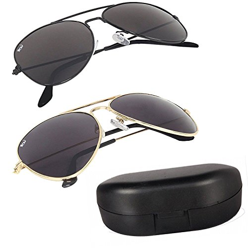 Delhitraderss Mens' women Combo of two Aviator Sunglasses UV Protection Goggles 01