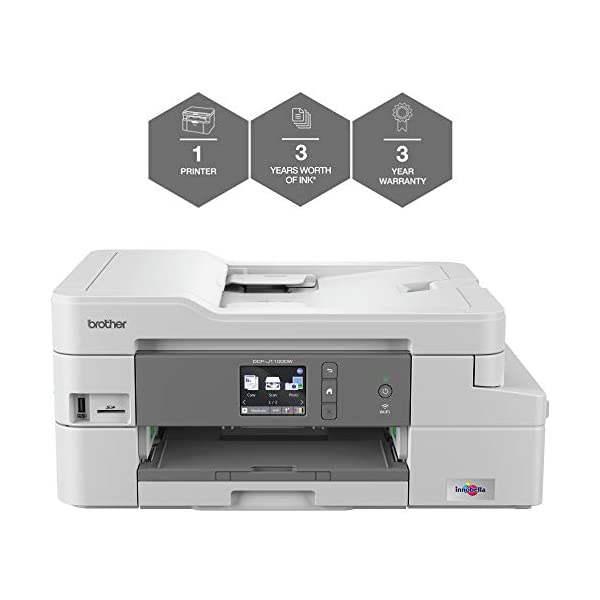 Brother Colour Inkjet Printer | Wireless & PC Connected | Print, Copy, Scan and 2 Sided Printing | A4 41gTTQDshrL